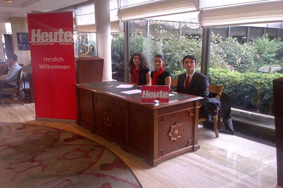 HEUTE Gazetesi  İstanbul ziyareti  Hilton Hotel Taksim…